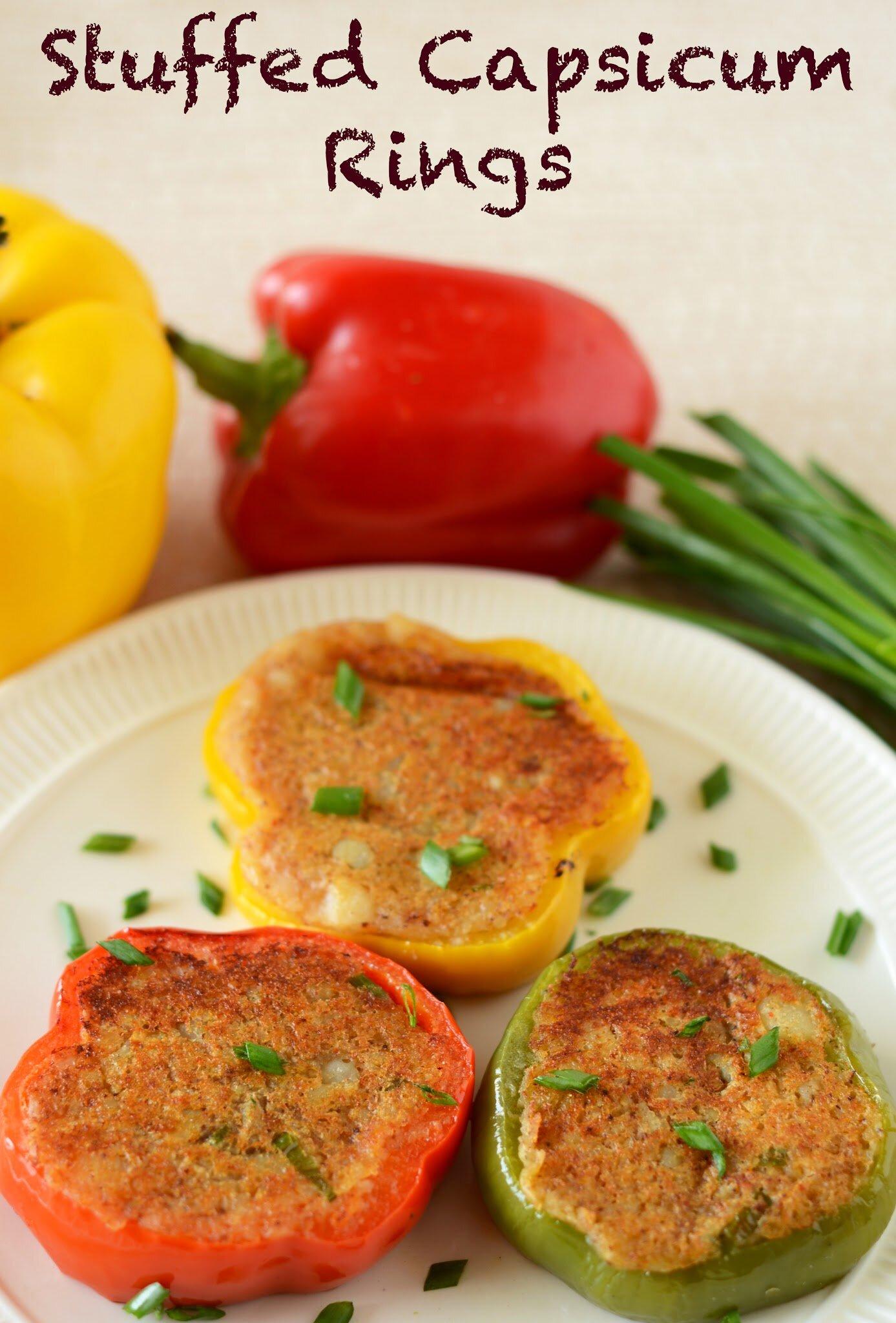 Stuffed Capsicum Recipe Indian Vegetarian side dish