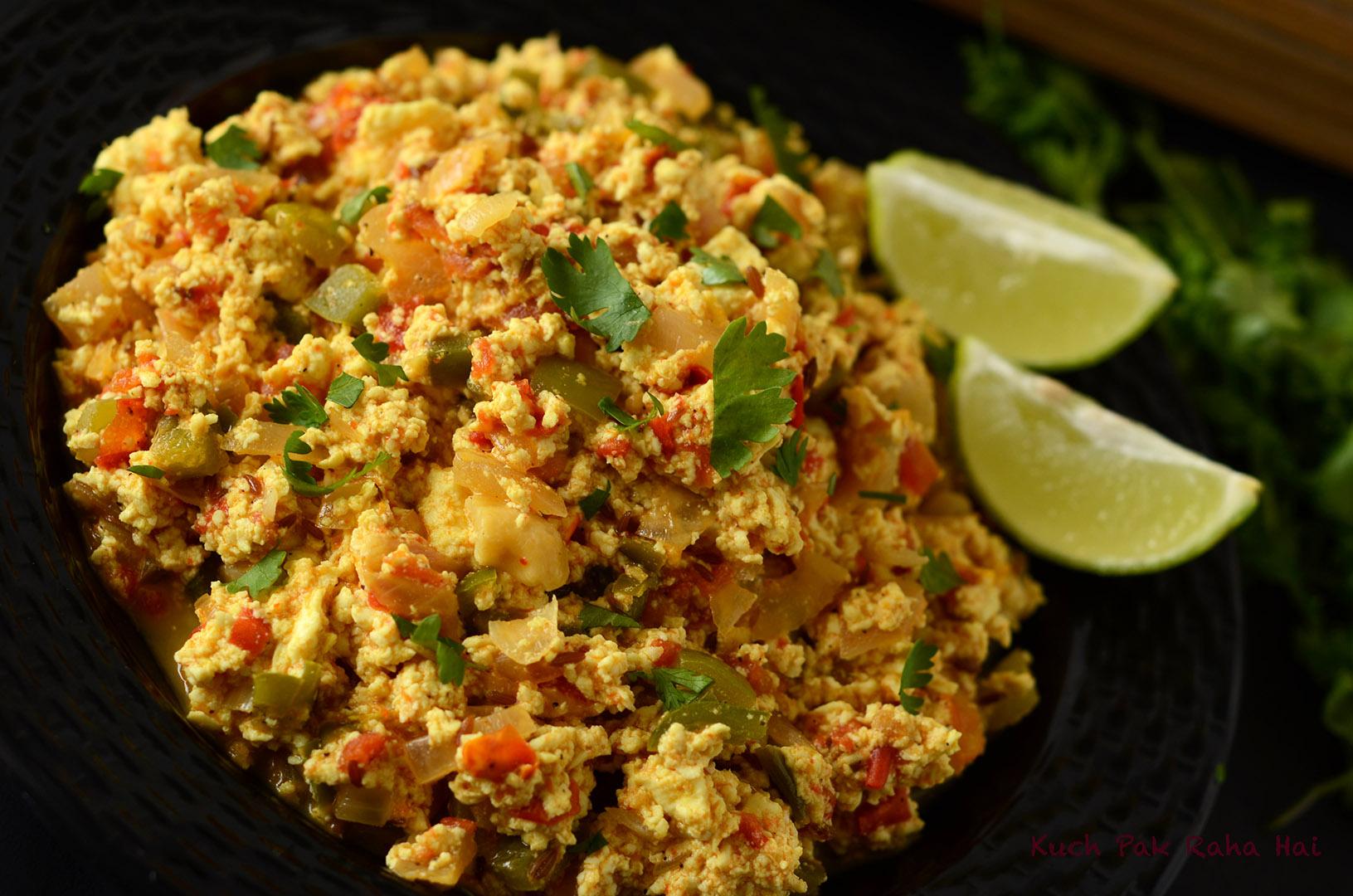 Paneer Bhurji Scrambled Indian Cottage Cheese Recipe