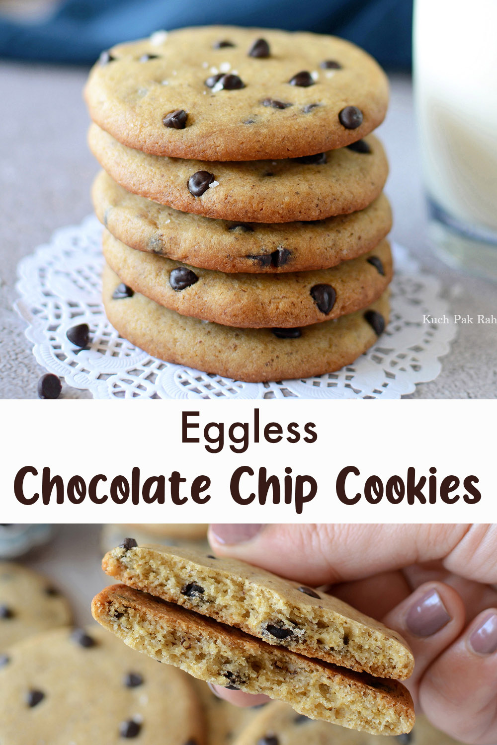 Easy Eggless Chocolate Chip Cookies Recipe
