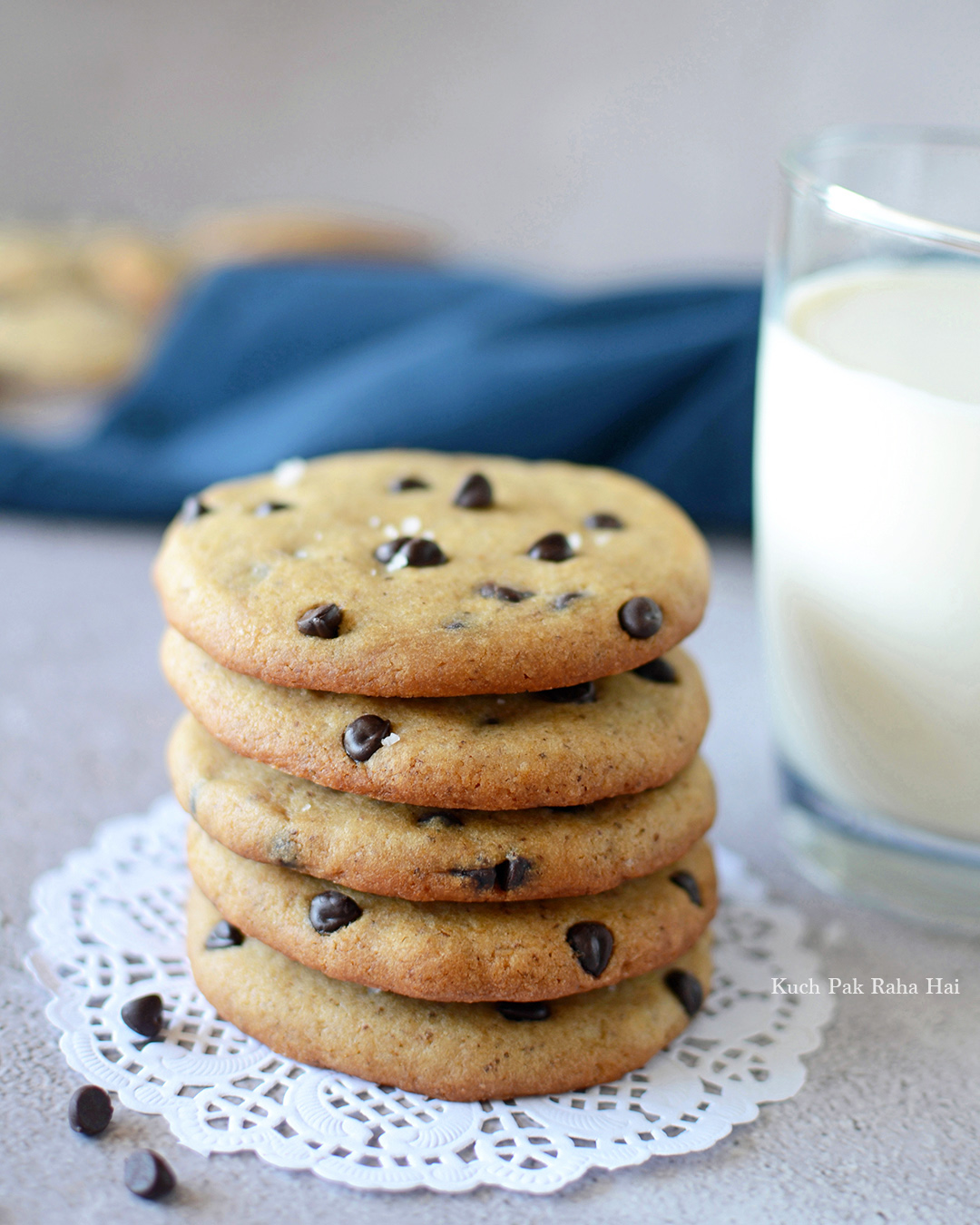 Eggless Choco Chip Cookies Recipe