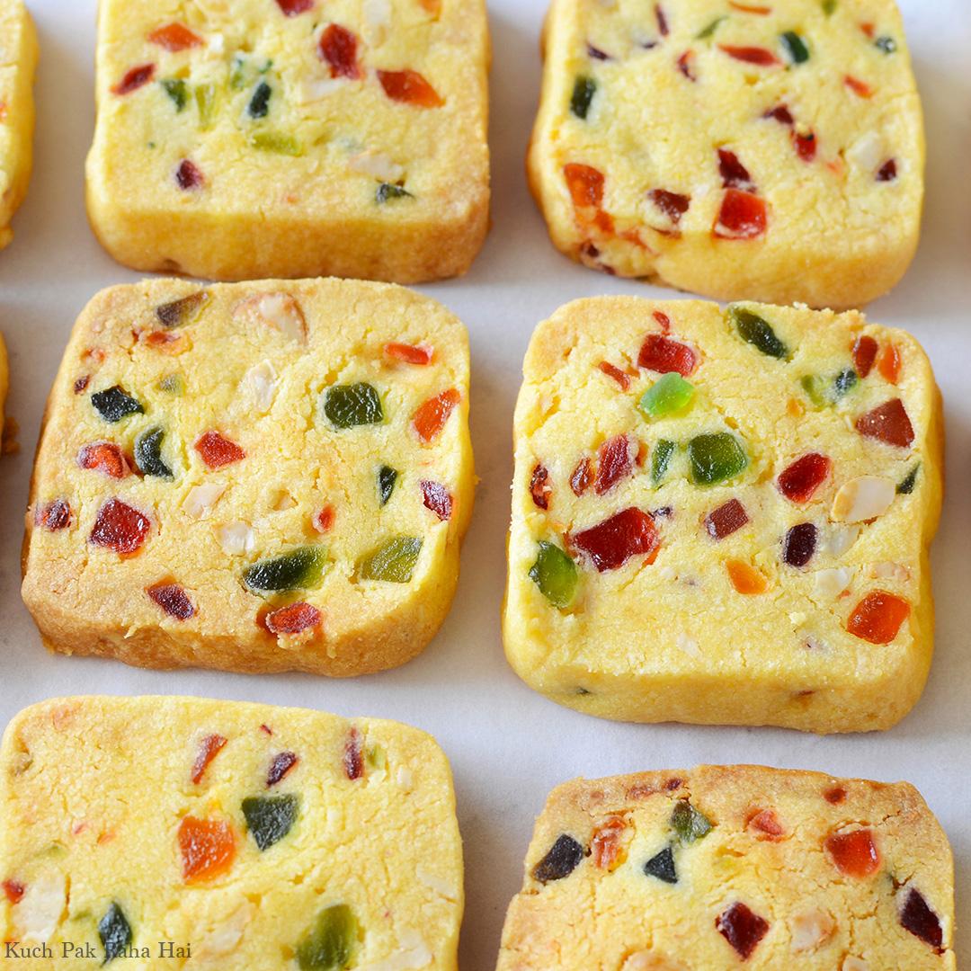 Eggless Tutti Frutti Biscuits Karachi Bakery style