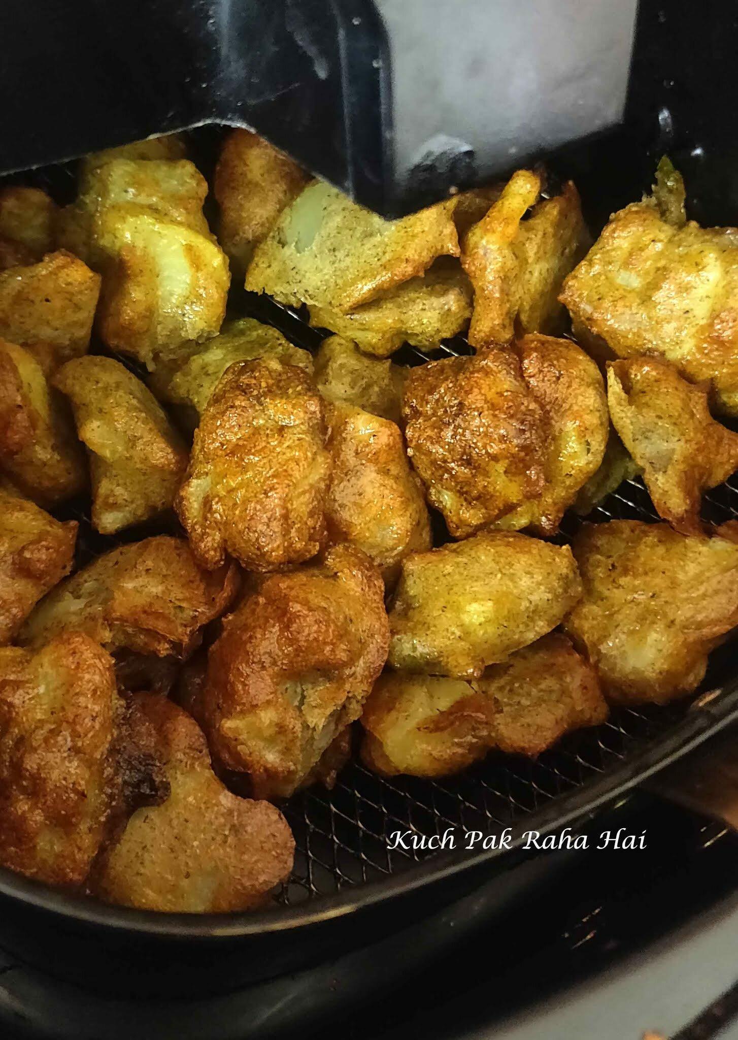 Moong Dal Pakoda in air fryer indian vegetarian recipe