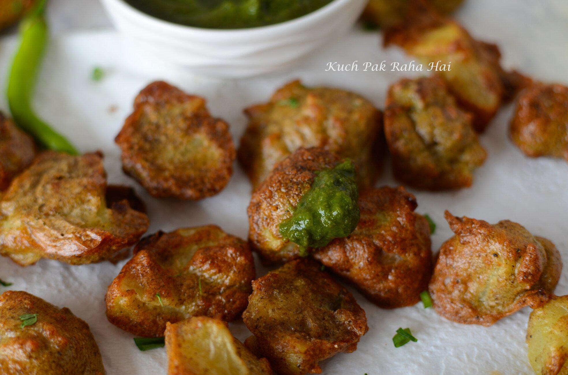 Mung Dal Pakora in air fryer indian lentil fritters recipe