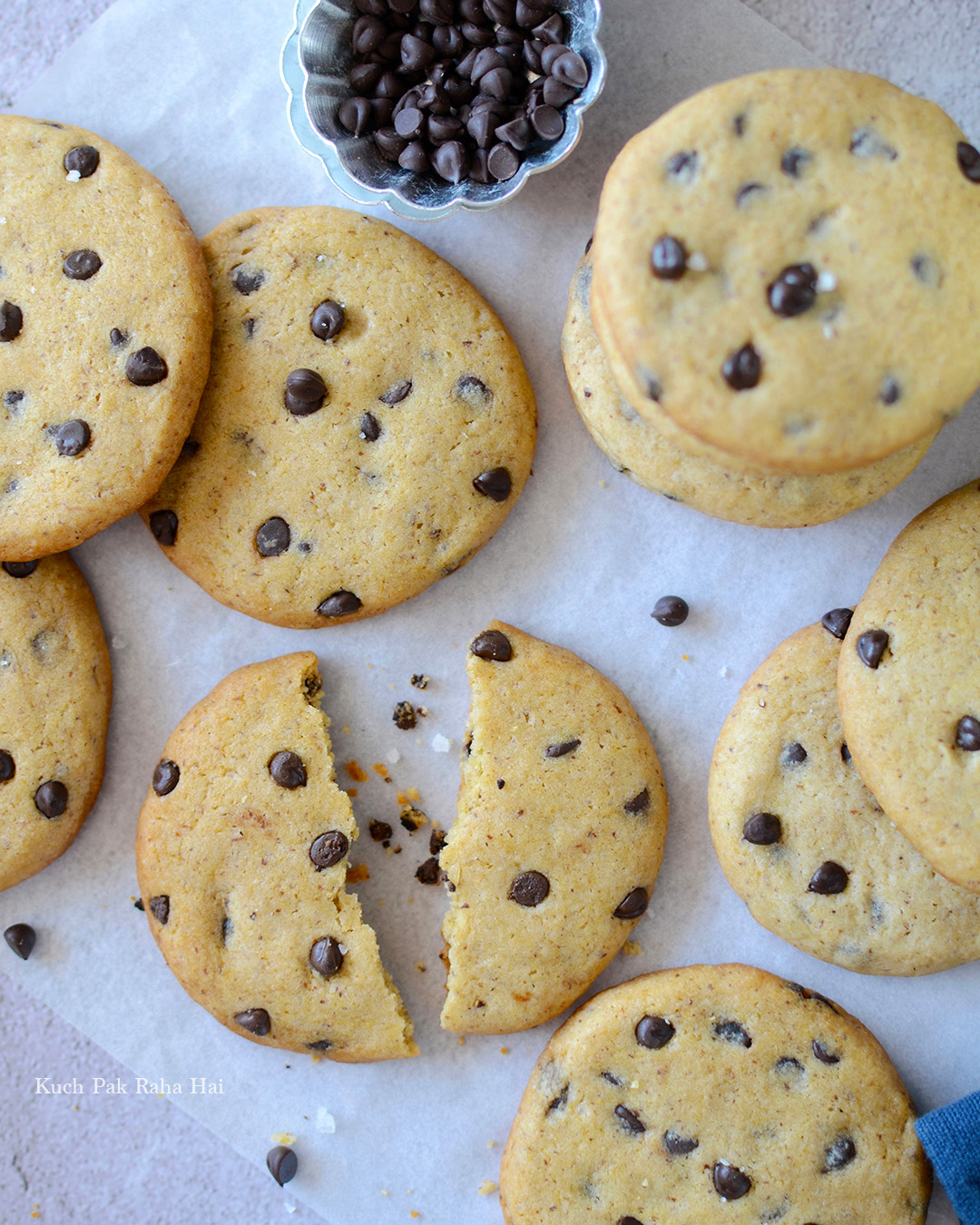 Eggless Chocolate Chip Cookies Easy Recipe