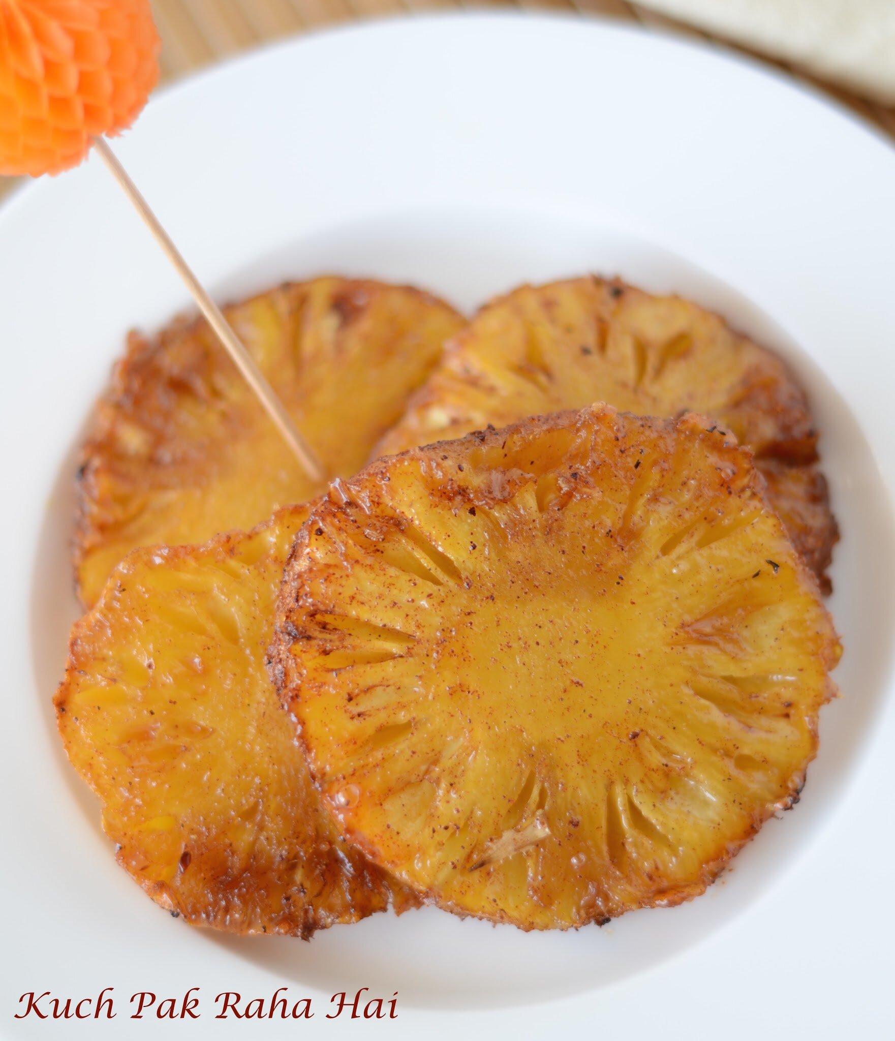 Grilled Pineapple Cinnamon In Air Fryer Vegetarian recipe