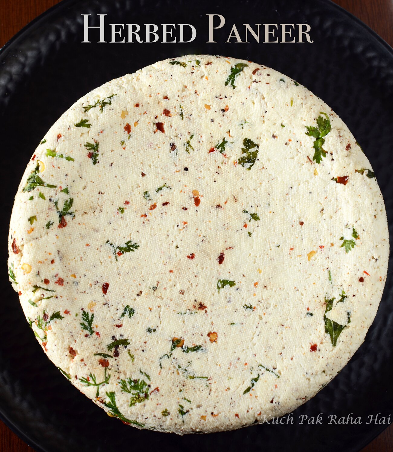 Herbed Paneer Masala Paneer with spices herbs