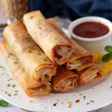 Herbed Cheese Roll in Air Fryer Cheese Burst Spring Roll Recipe