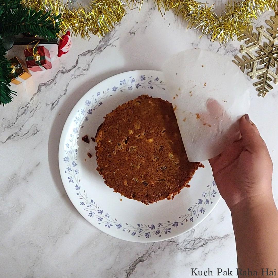 Eggless Christmas Cake Step10