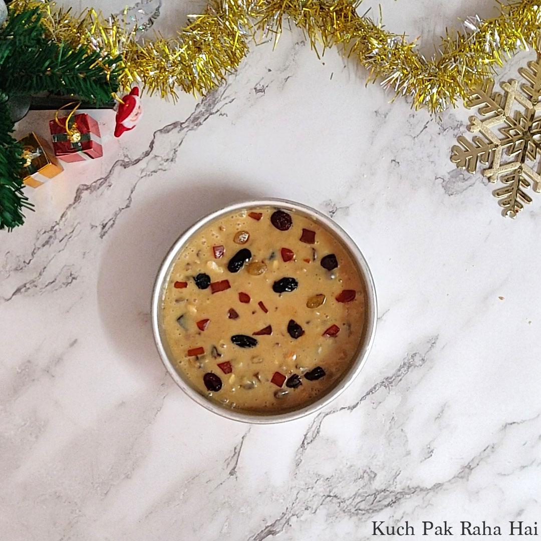 Eggless-Christmas-Cake-Step8