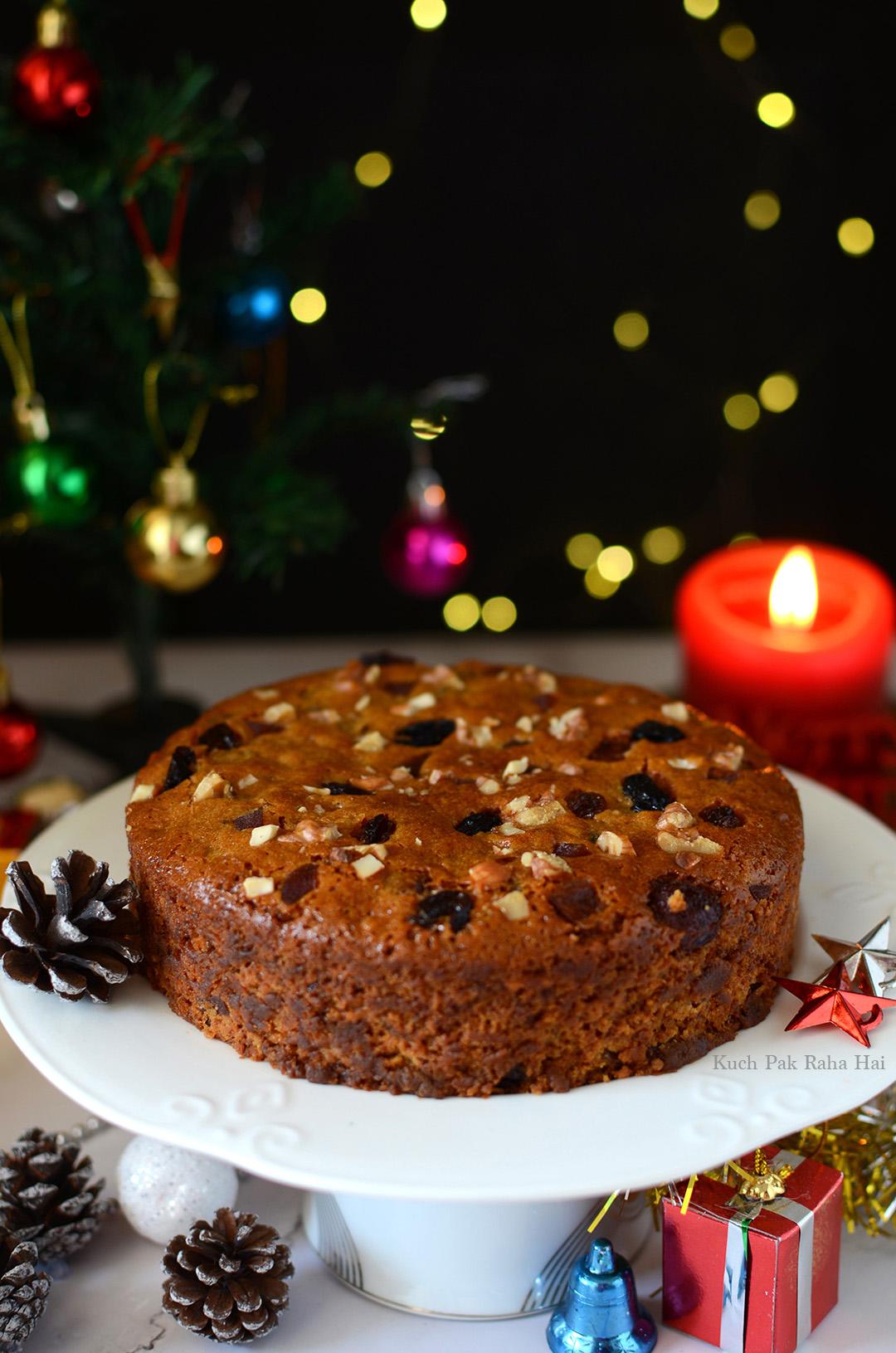 Eggless Christmas Plum Cake Recipe Fruit Cake