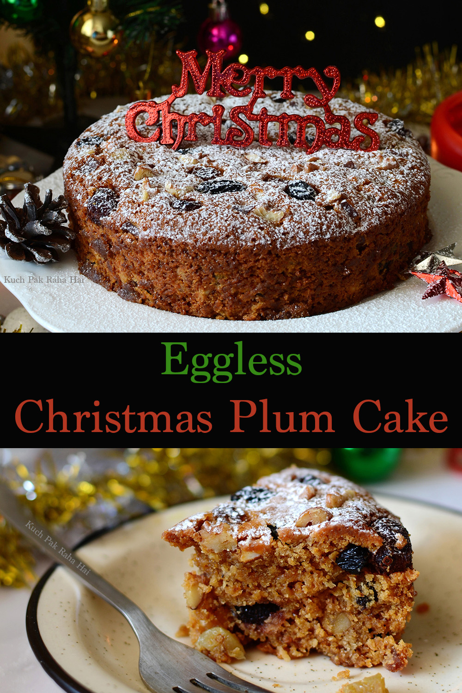 Eggless Christmas Plum Cake Recipe