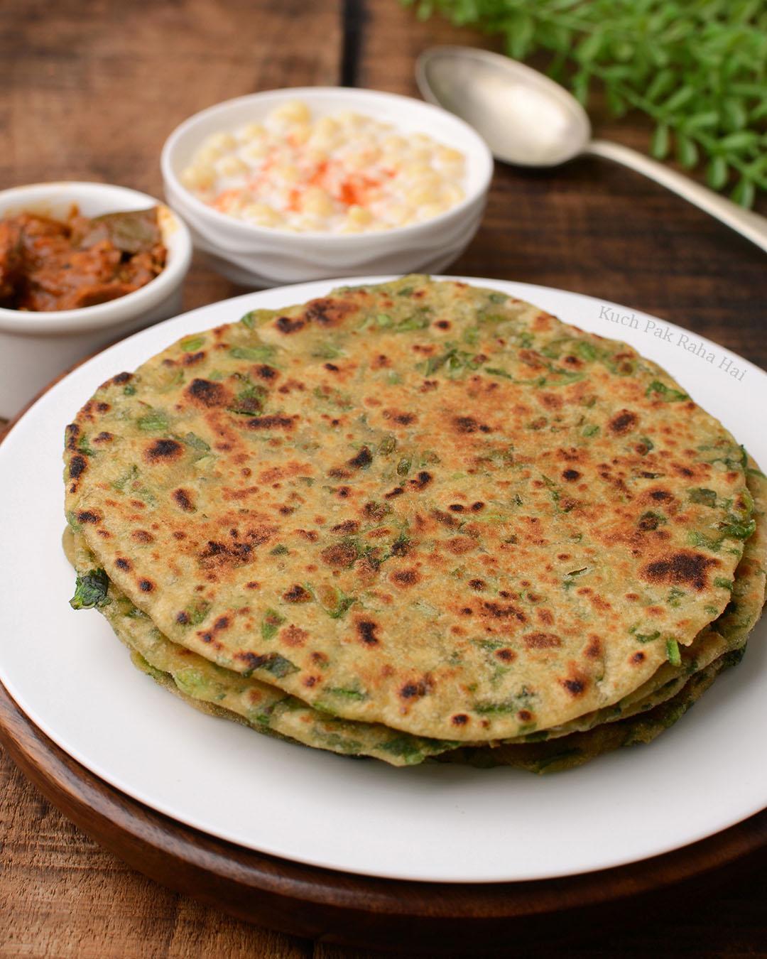 Palak Methi Paratha Recipe