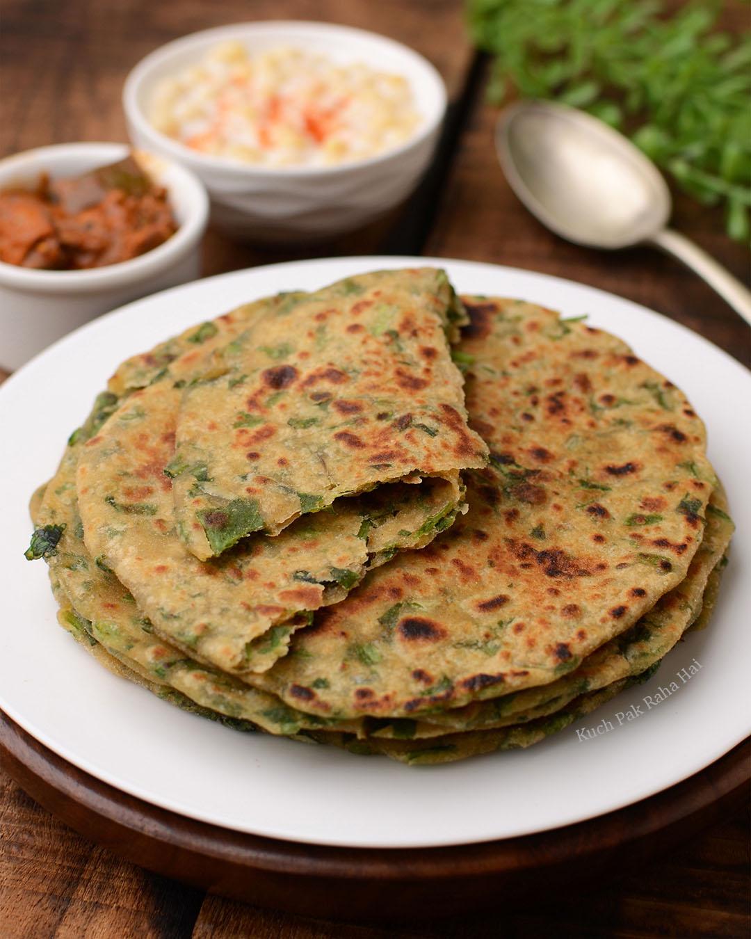 Spinach Fenugreek Indian Flatbread