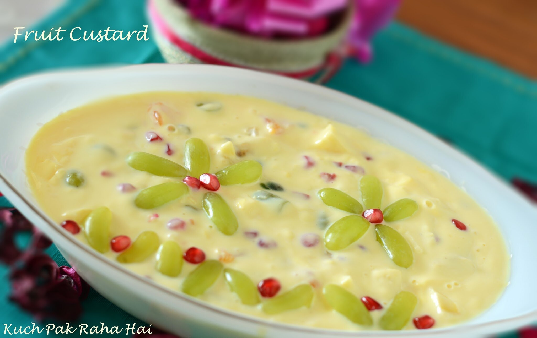 Fruit Custard Recipe Summer Dessert
