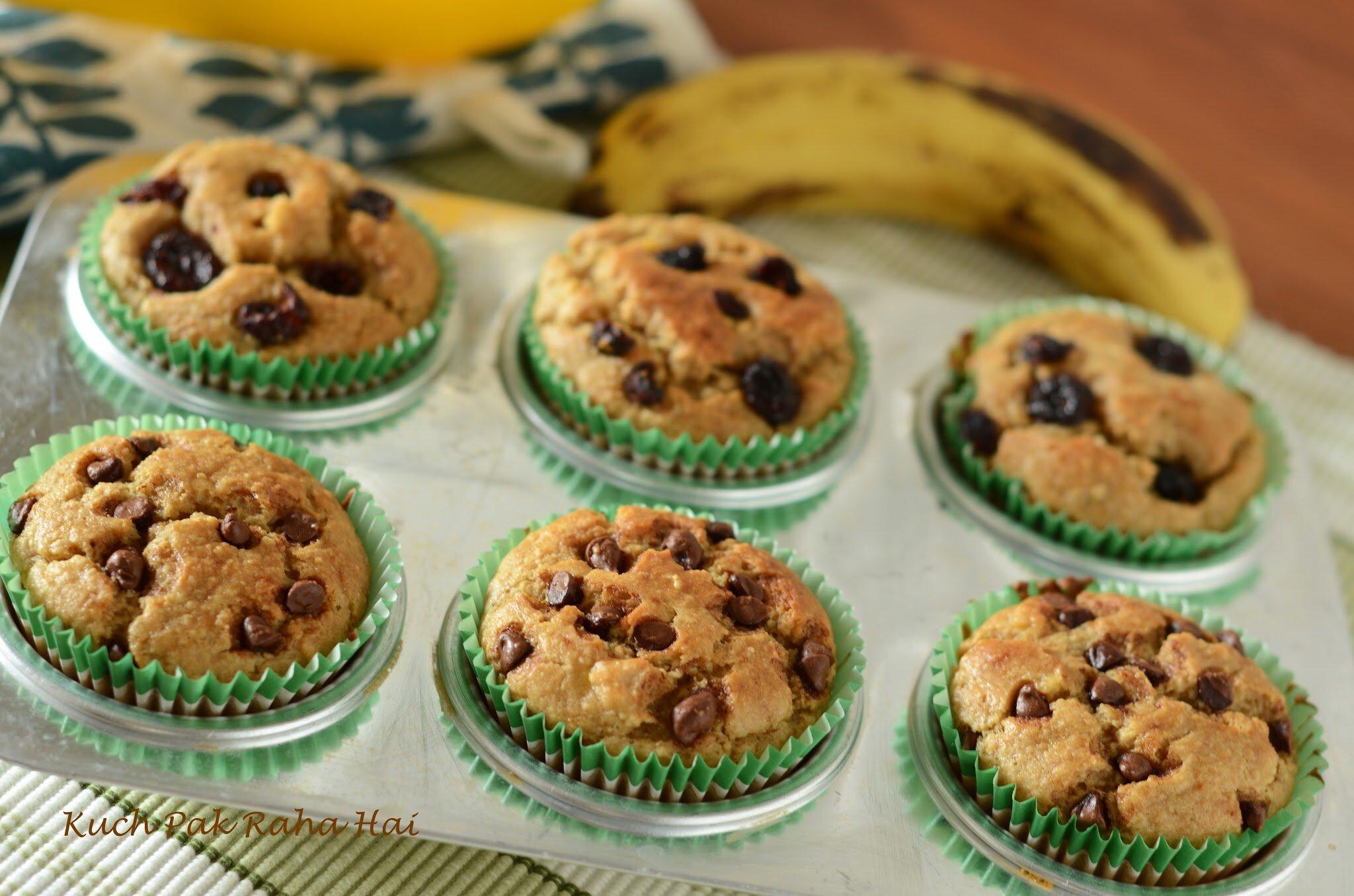Eggless Oats Banana Muffin