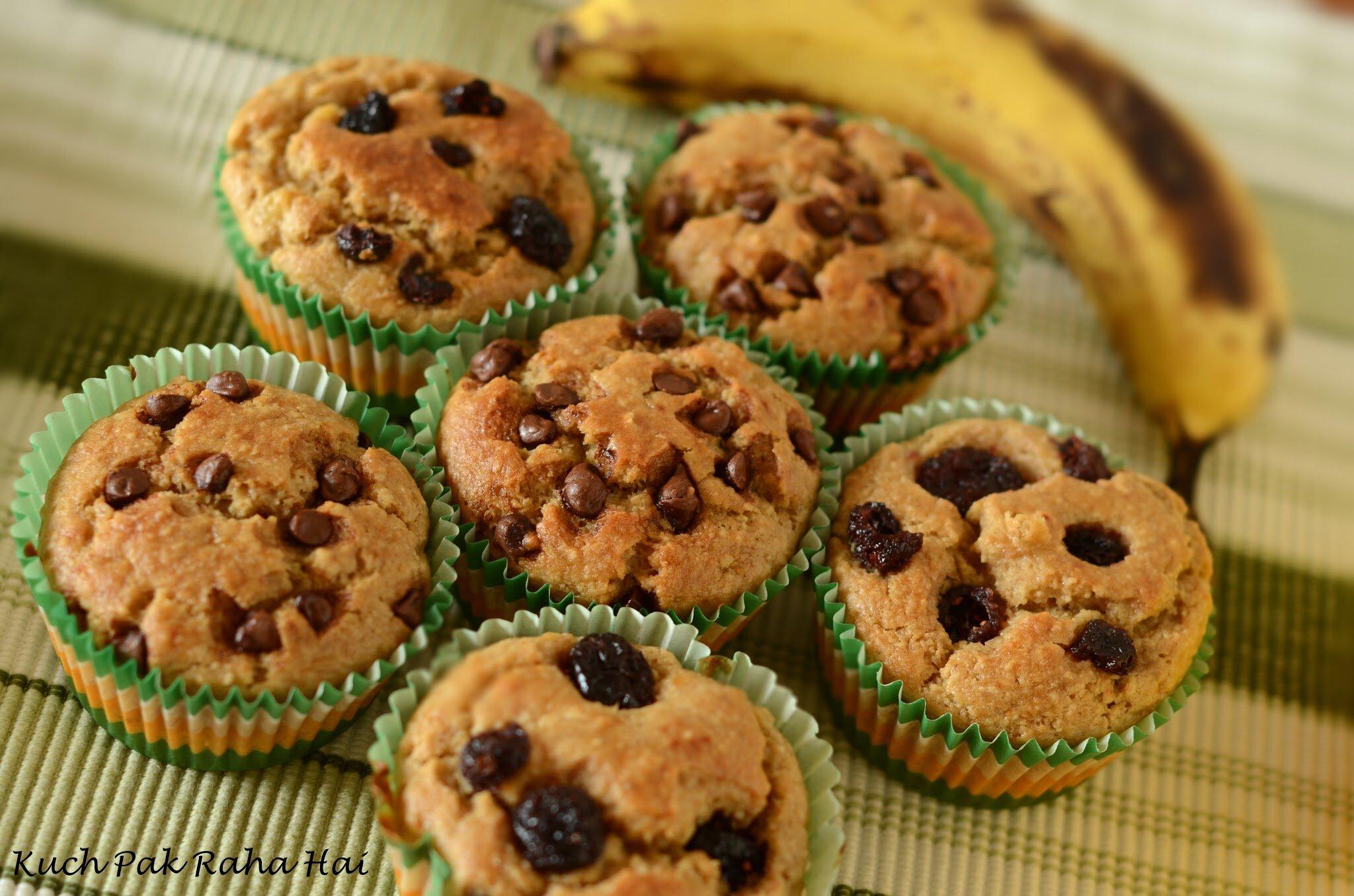 Eggless Banana Oats Muffins Recipe Healthy breakfast muffins