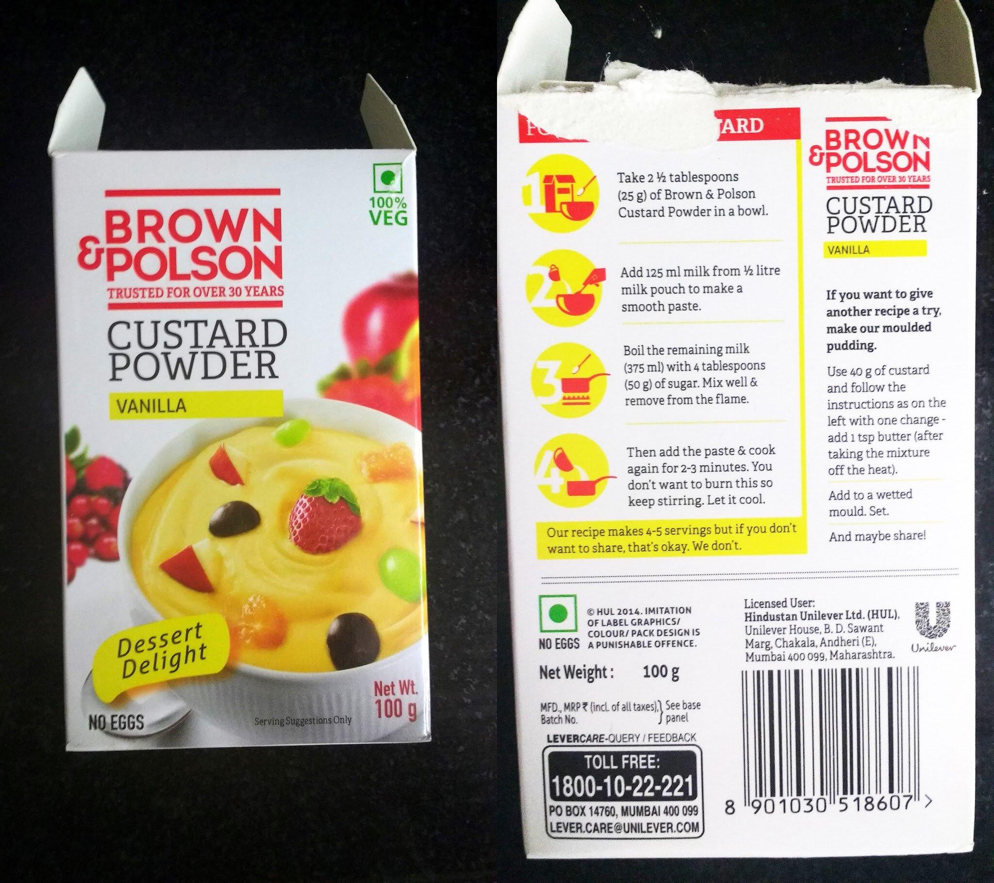 Brown & Polson Custard Powder
