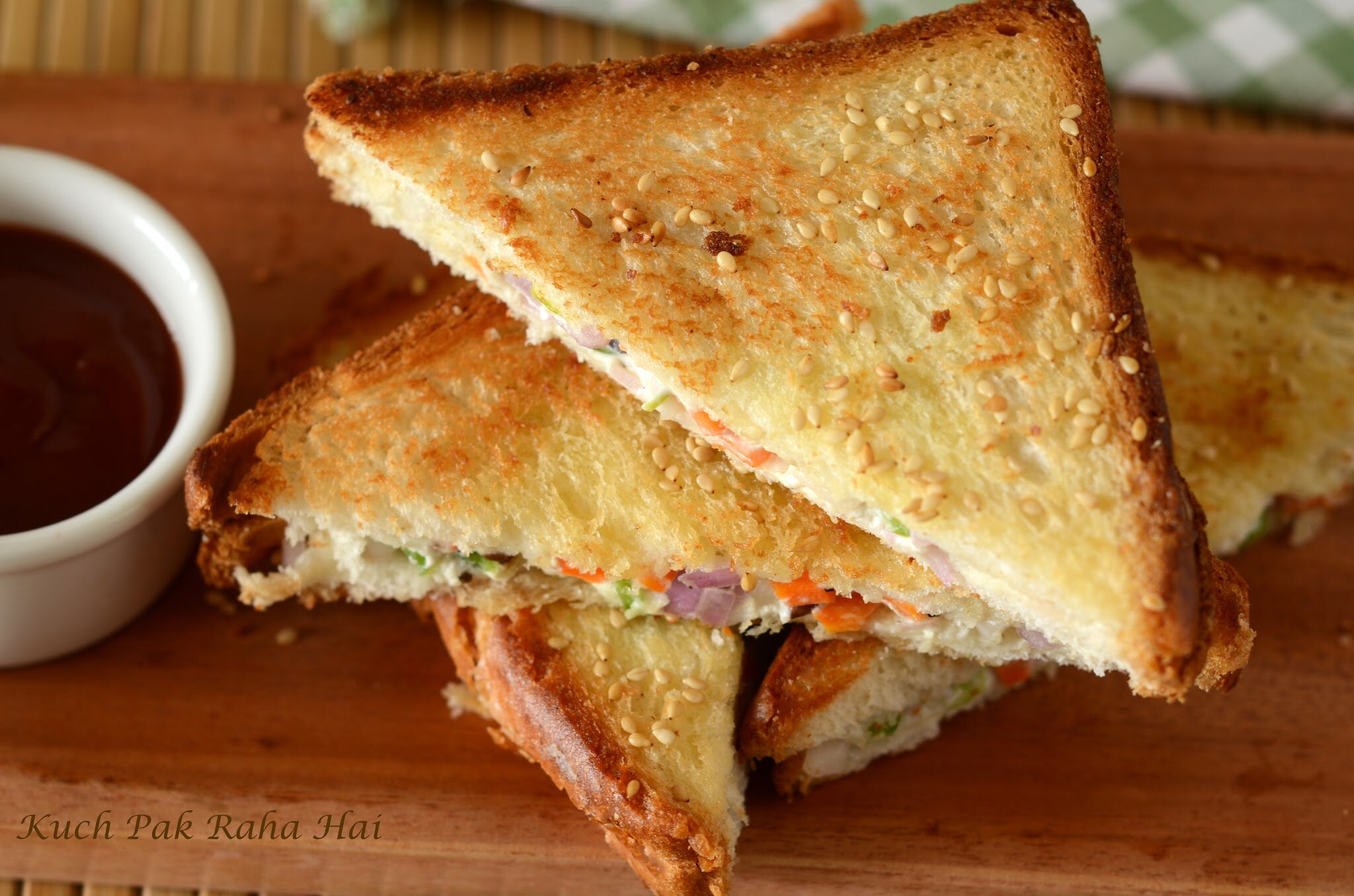 Curd Sandwich recipe Yoghurt Sandwich made with hung curd for breakfast kids lunch box sandwich recipe