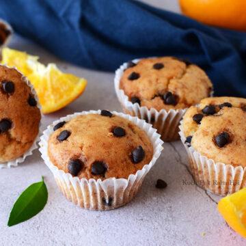 Eggless Orange Muffins Recipe