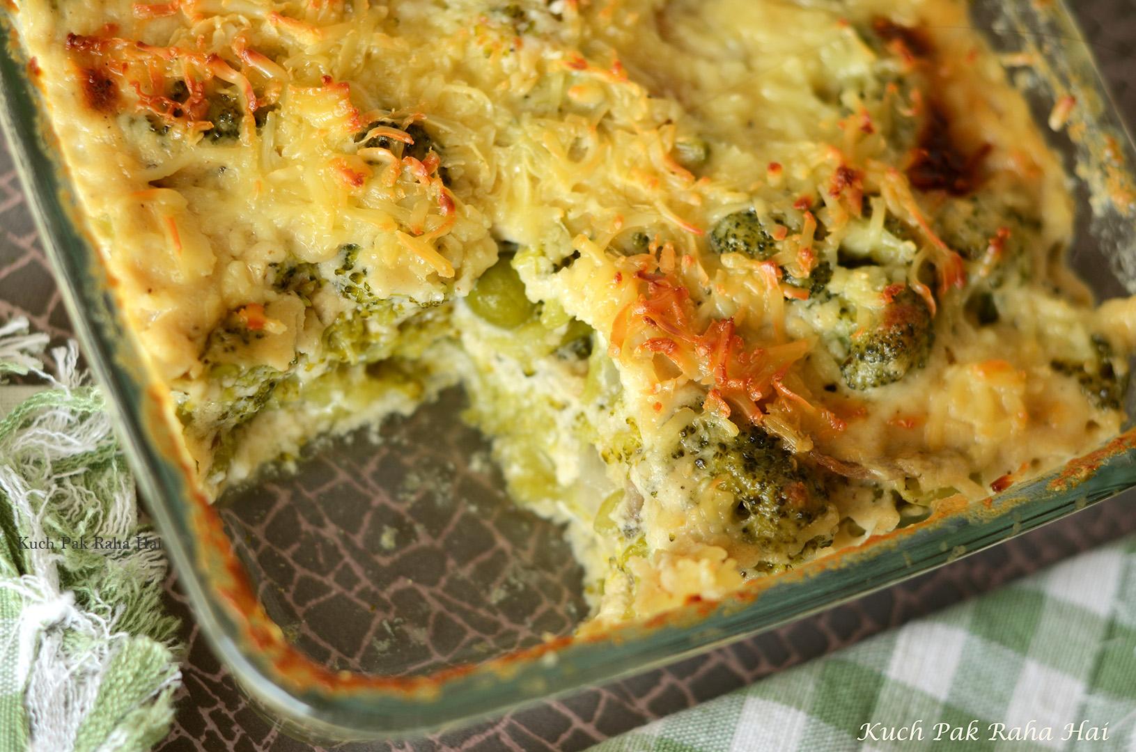 Broccoli Cheese Casserole Gratin Recipe