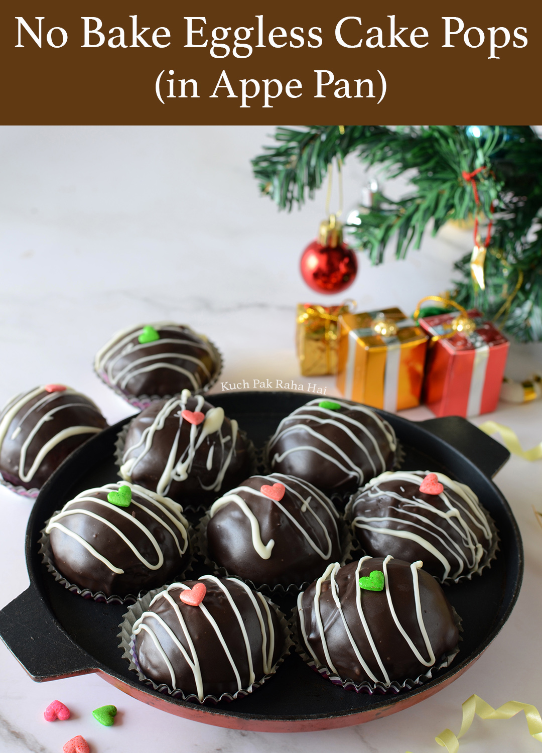 Eggless Chocolate Cake Pops in Appe Pan Recipe