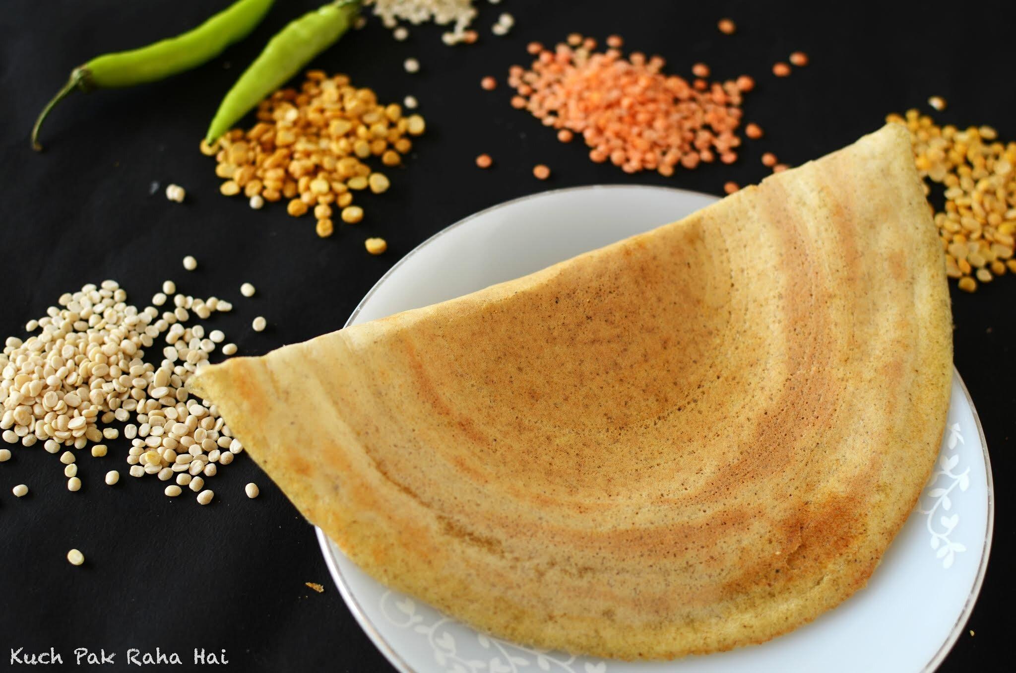 Instant Mixed Dal Dosa Lentils Dosa No Fermentation Recipe
