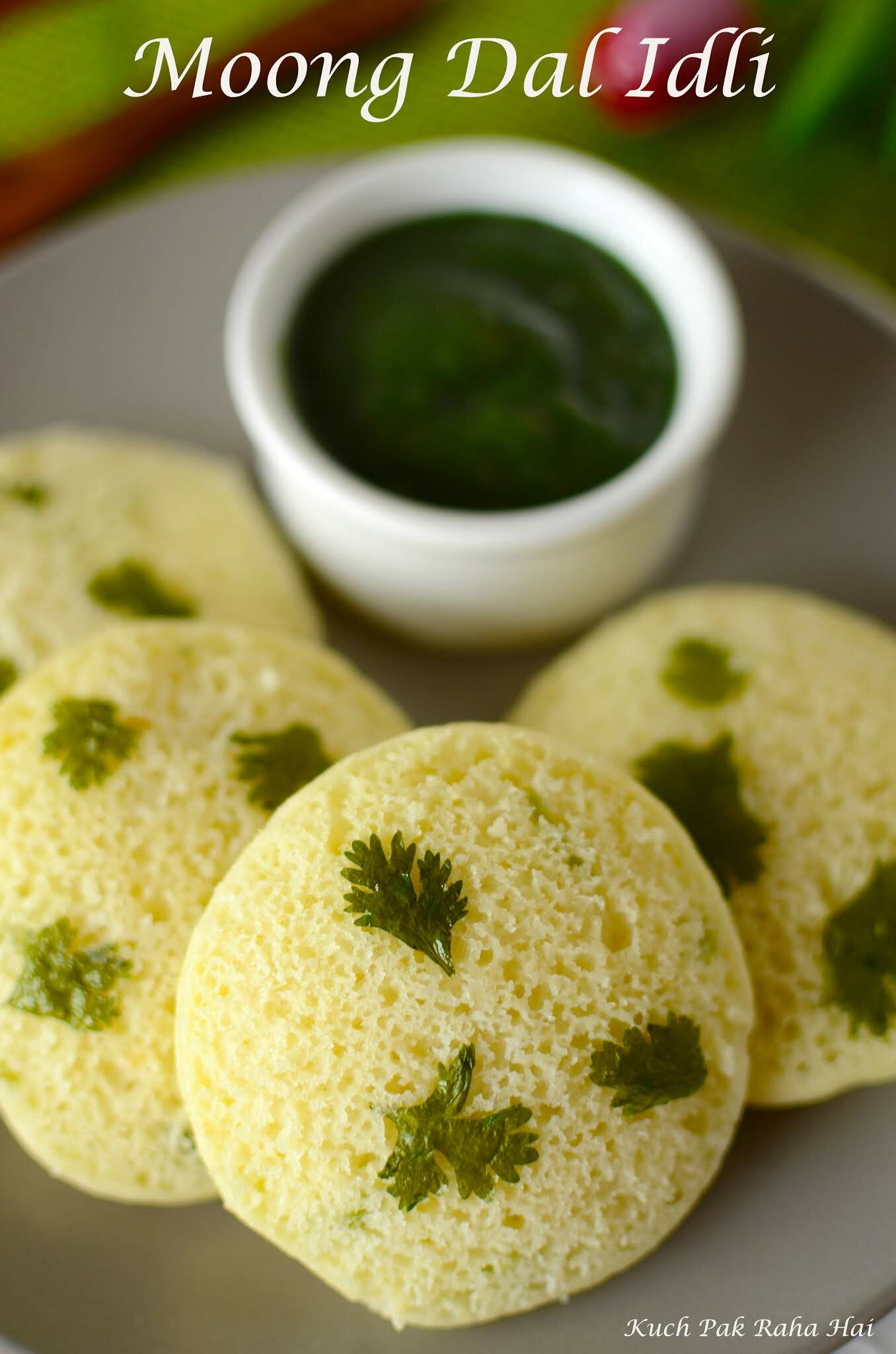 Instant Moong Dal Idli recipe made without rice & no fermentation.