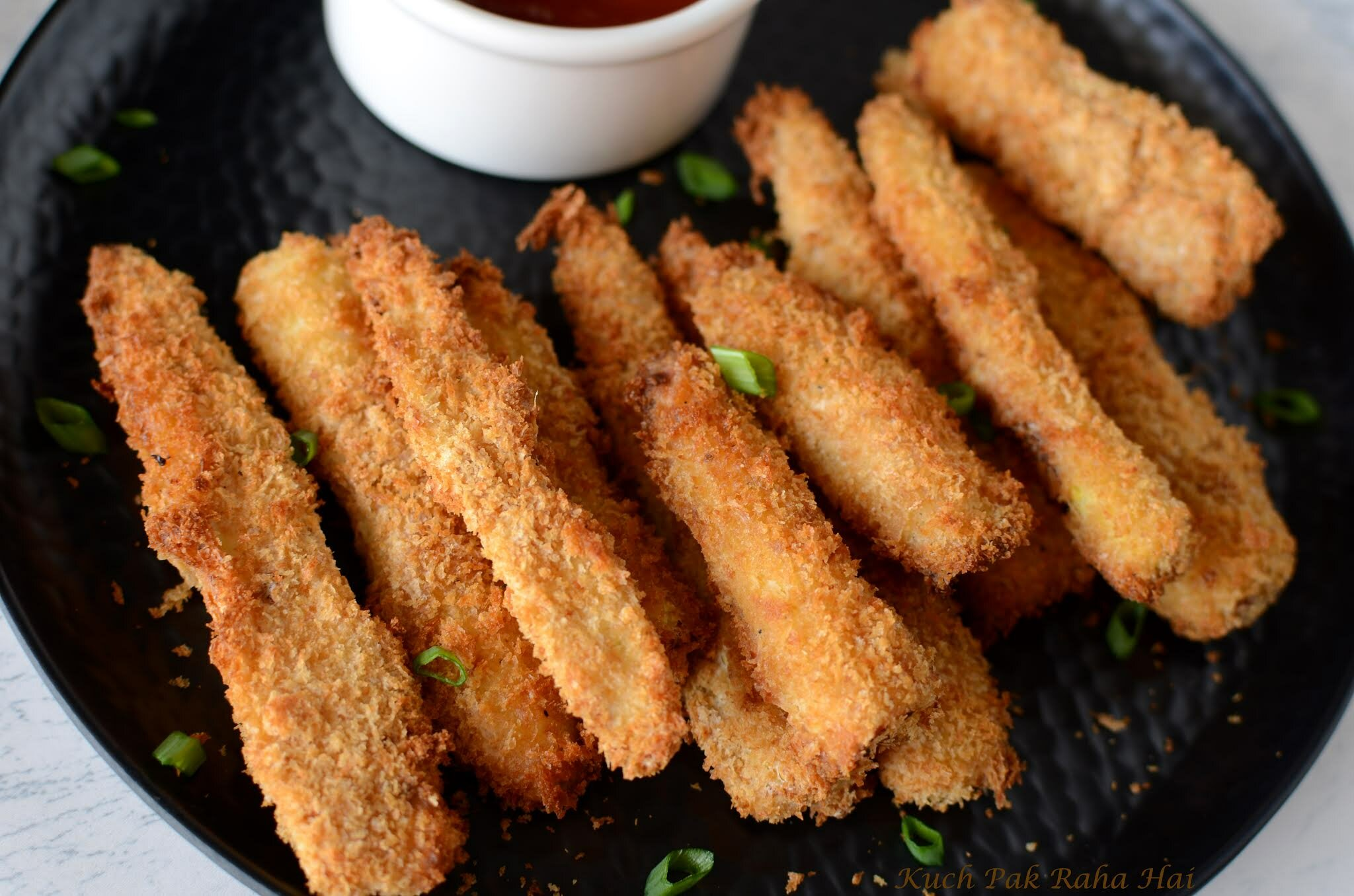 Crispy Baby Corns in Air Fryer Vegetarian snack or starter recipe