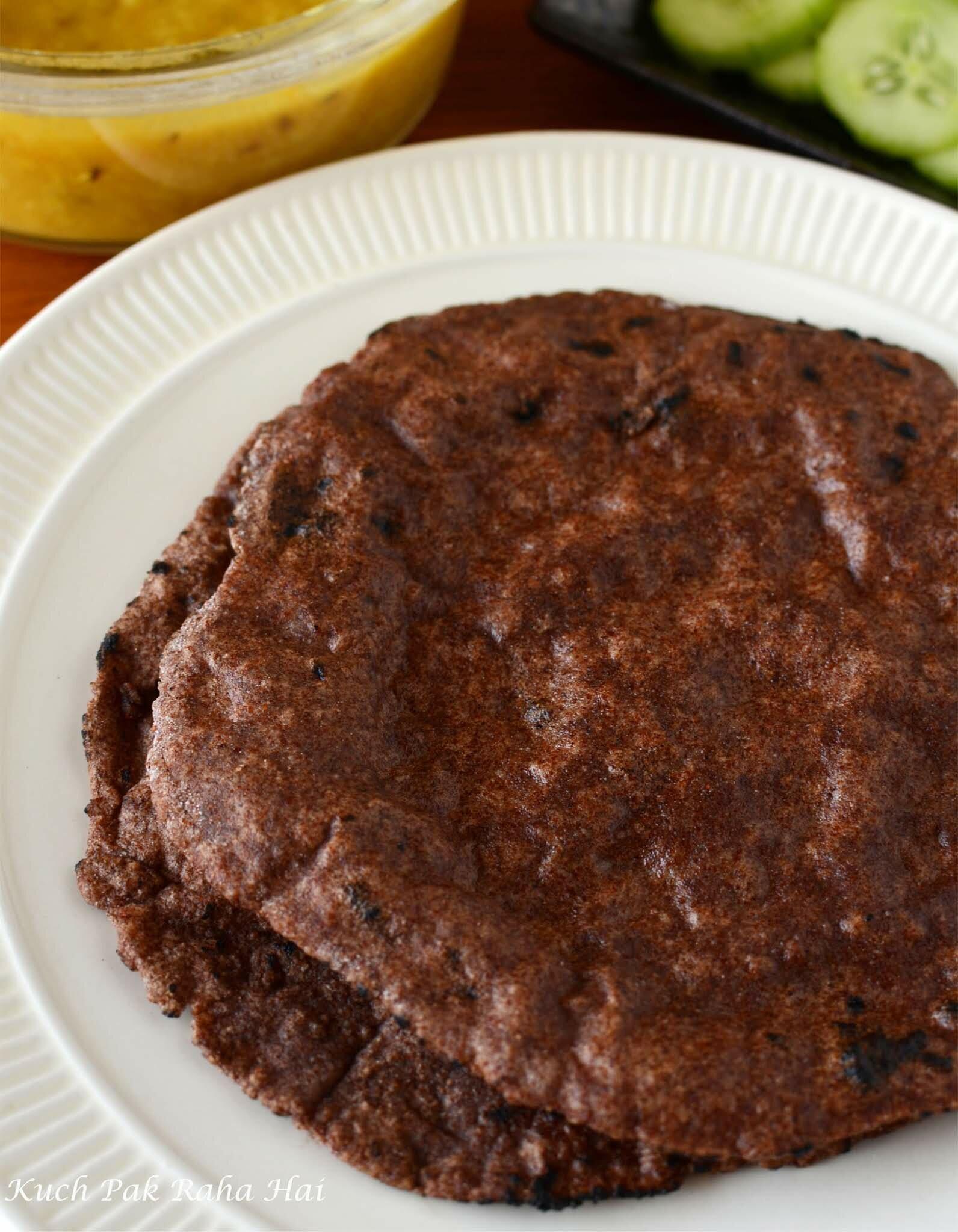ragi roti nachni rotti is a gluten free millet roti recipe
