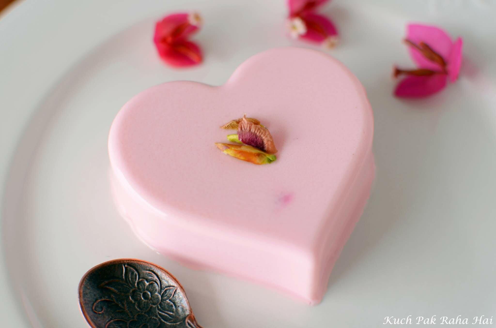 Rose Panna Cotta Recipe with agar agar without gelatin