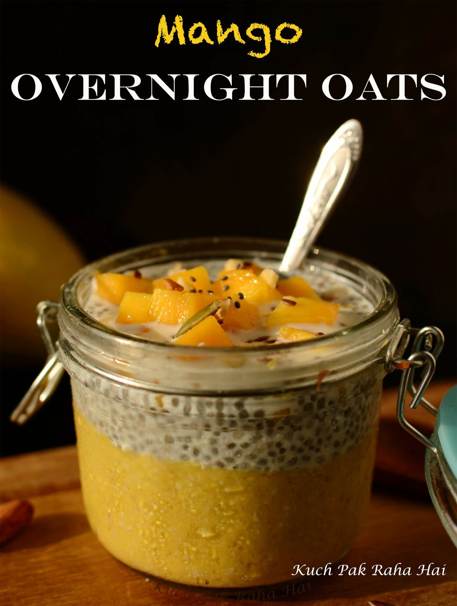 Mango Overnight Oats Chia Seeds Pudding