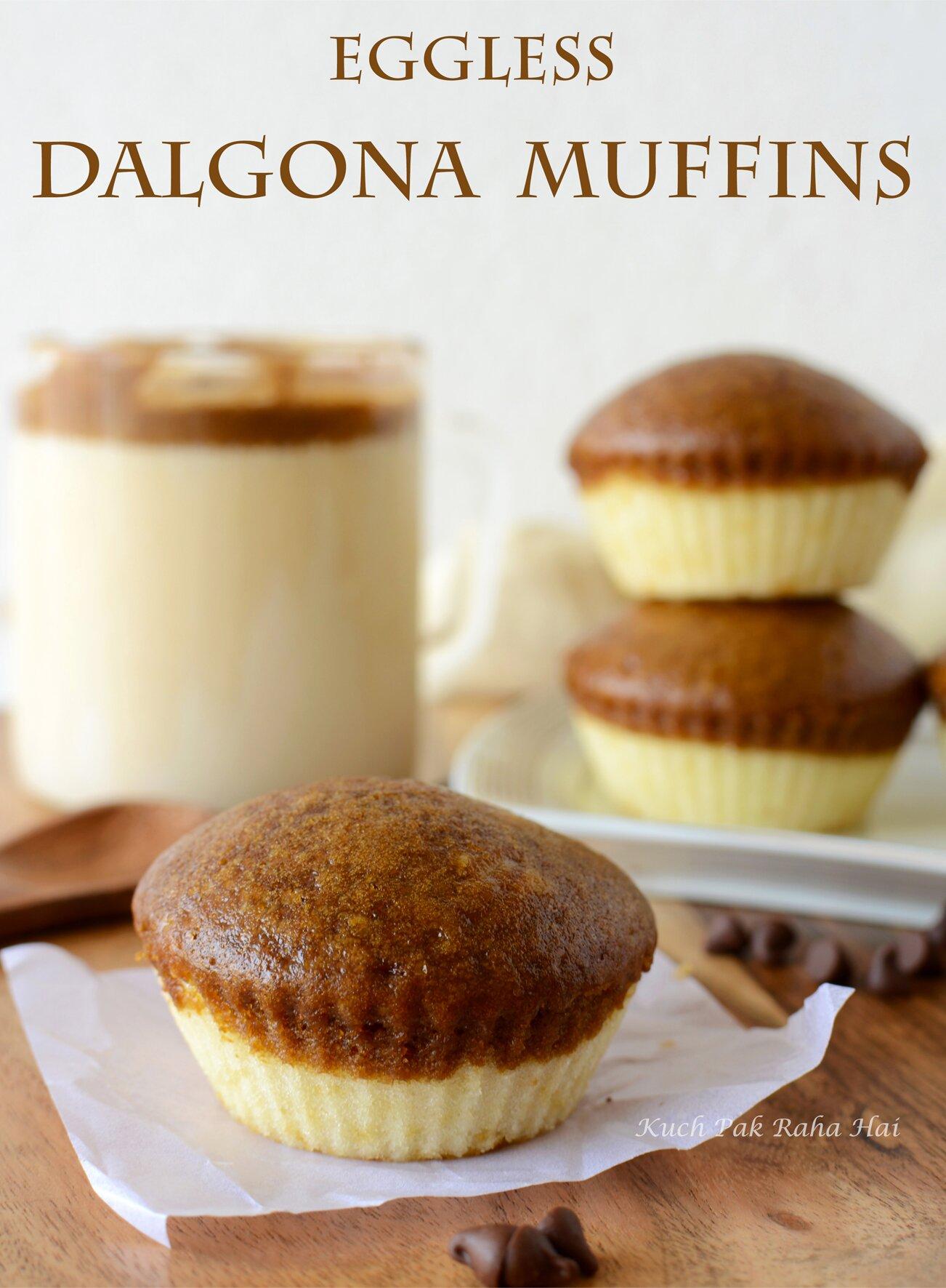 Eggless Dalgona Coffee Muffins Cupcakes