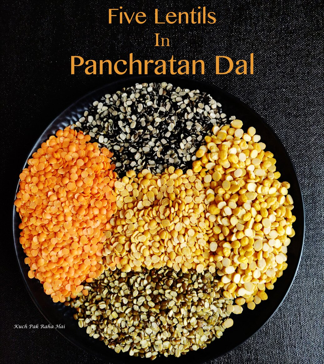 Five Lentils or Dal used in Rajasthani Panchmel Dal