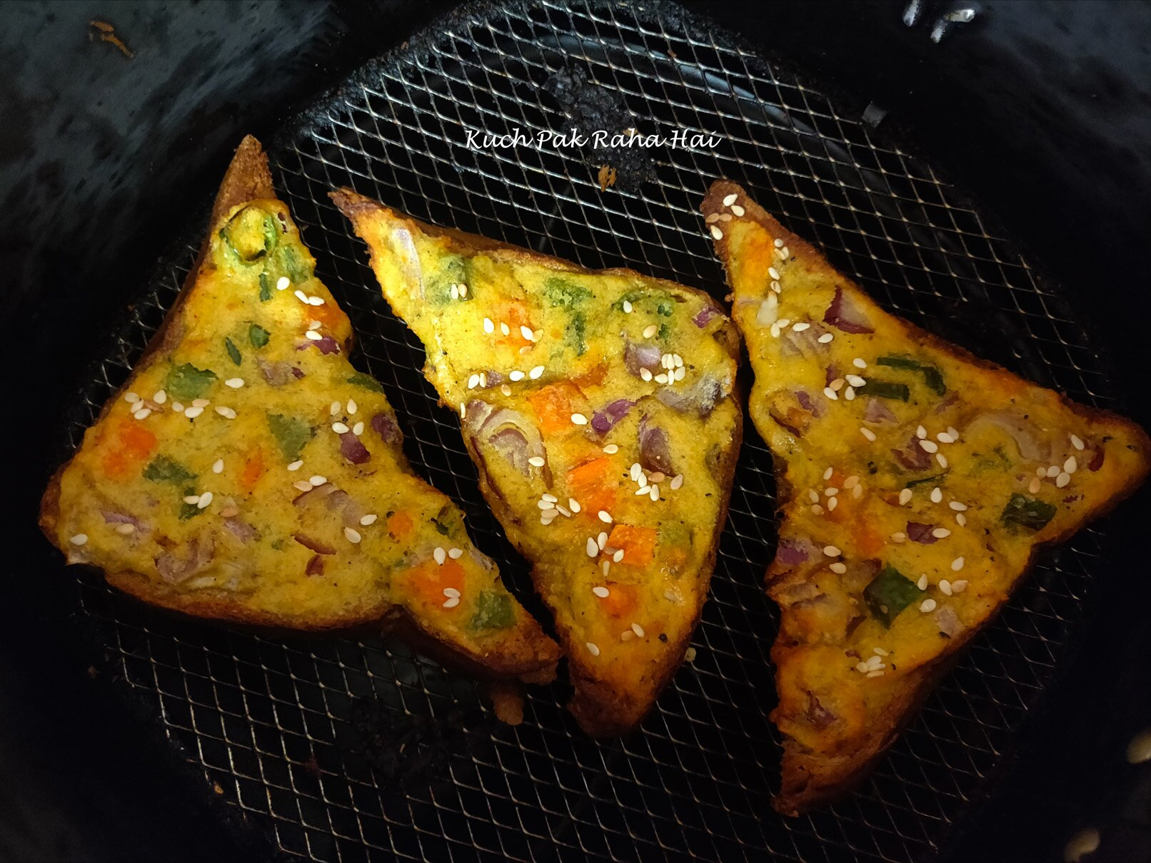 Moong Dal Toast or Mung Dal toast or Lentil Toast in air fryer