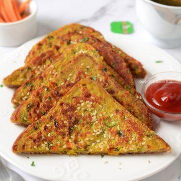 Moong Dal Toast Lentil Toast Healthy Breakfast Vegan vegetarian