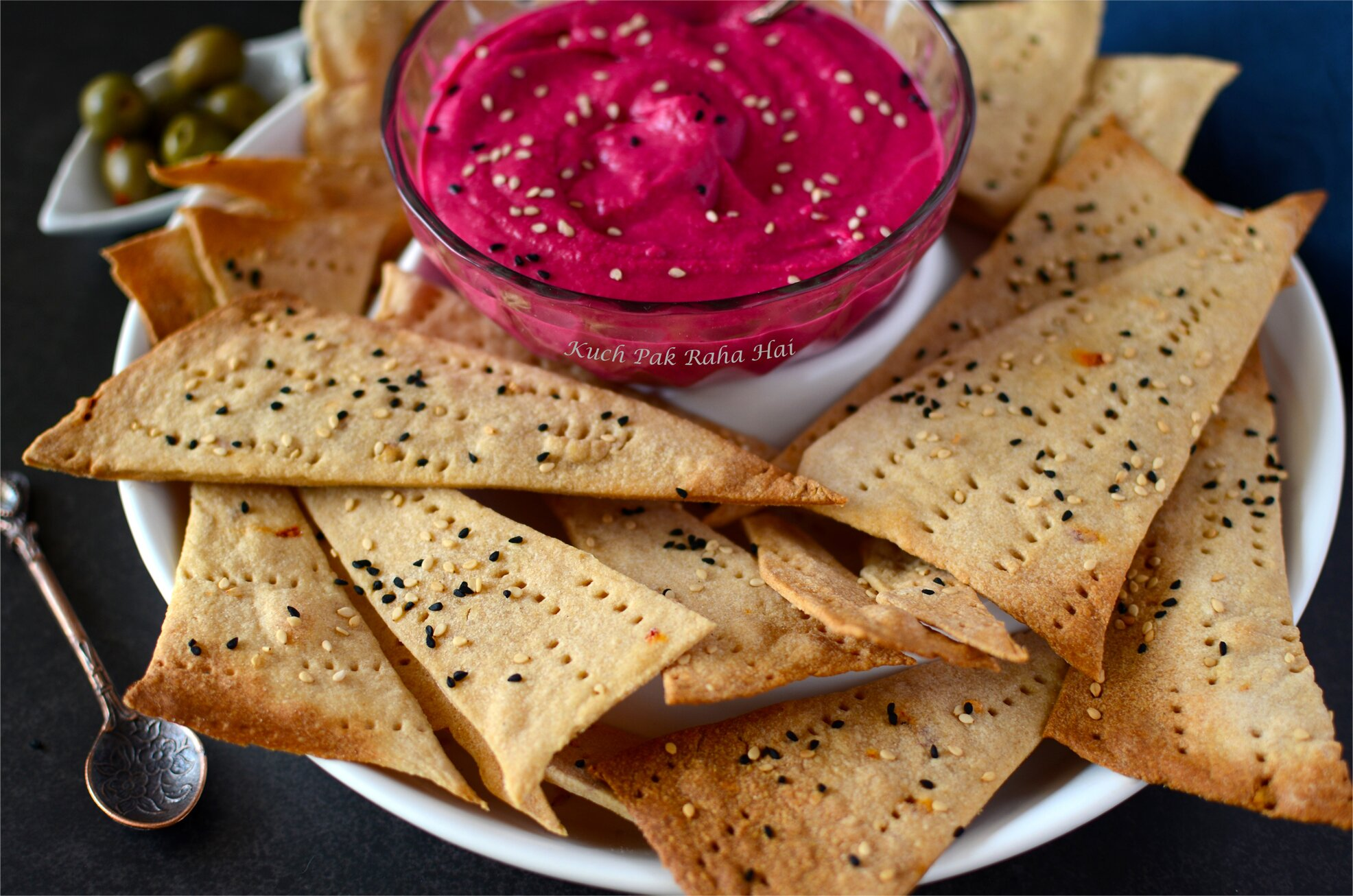 Baked Whole Wheat Lavash Chips No yeast Recipe