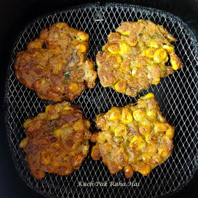 Crispy Corn Fritters Recipe without eggs in air fryer