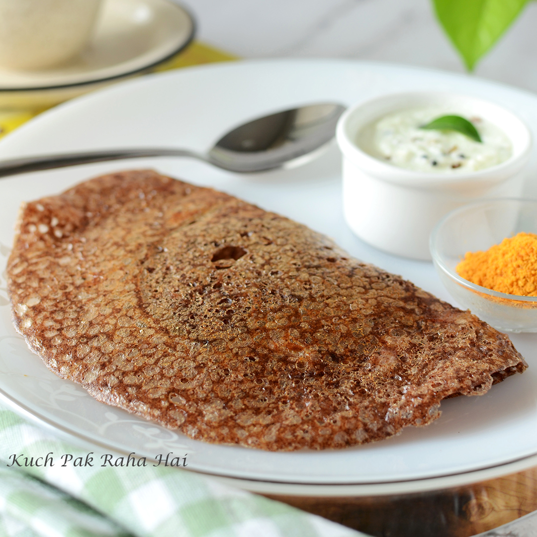 Instant Ragi Dosa Recipe without rava, without fermentation, with rice flour