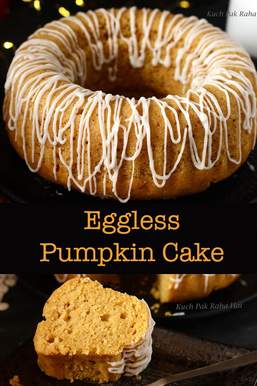 Eggless Pumpkin Cake Recipe with fresh pumpkin puree