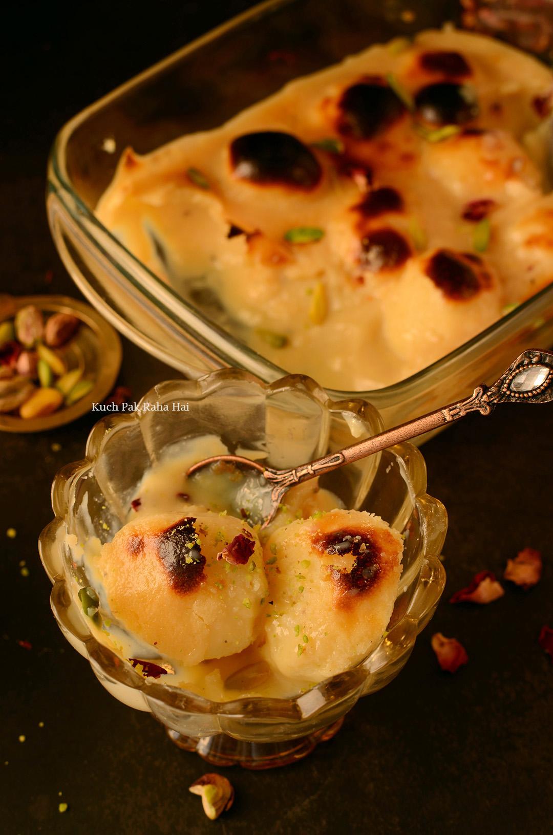 Bengali Baked Rasgulla Recipe