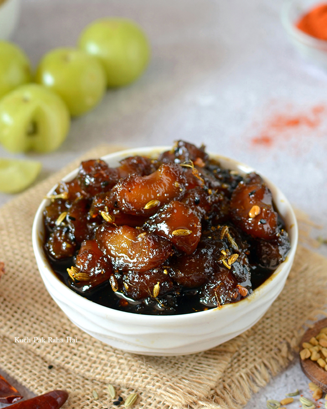 Amla Ki Launji Khatti Meethi Indian Gooseberry Chutney