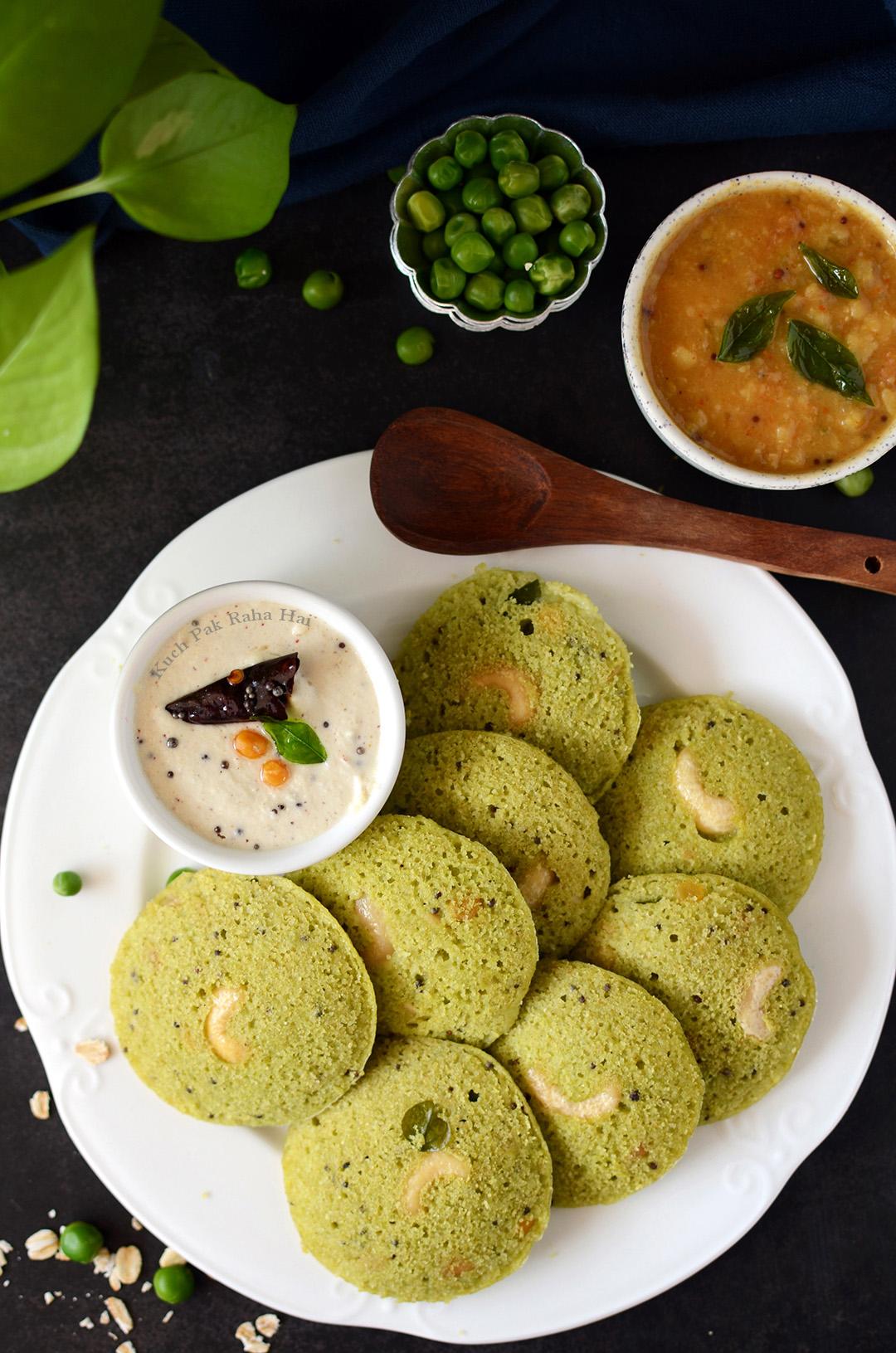 Oats idli recipe Fresh Peas Matar Idli Recipe