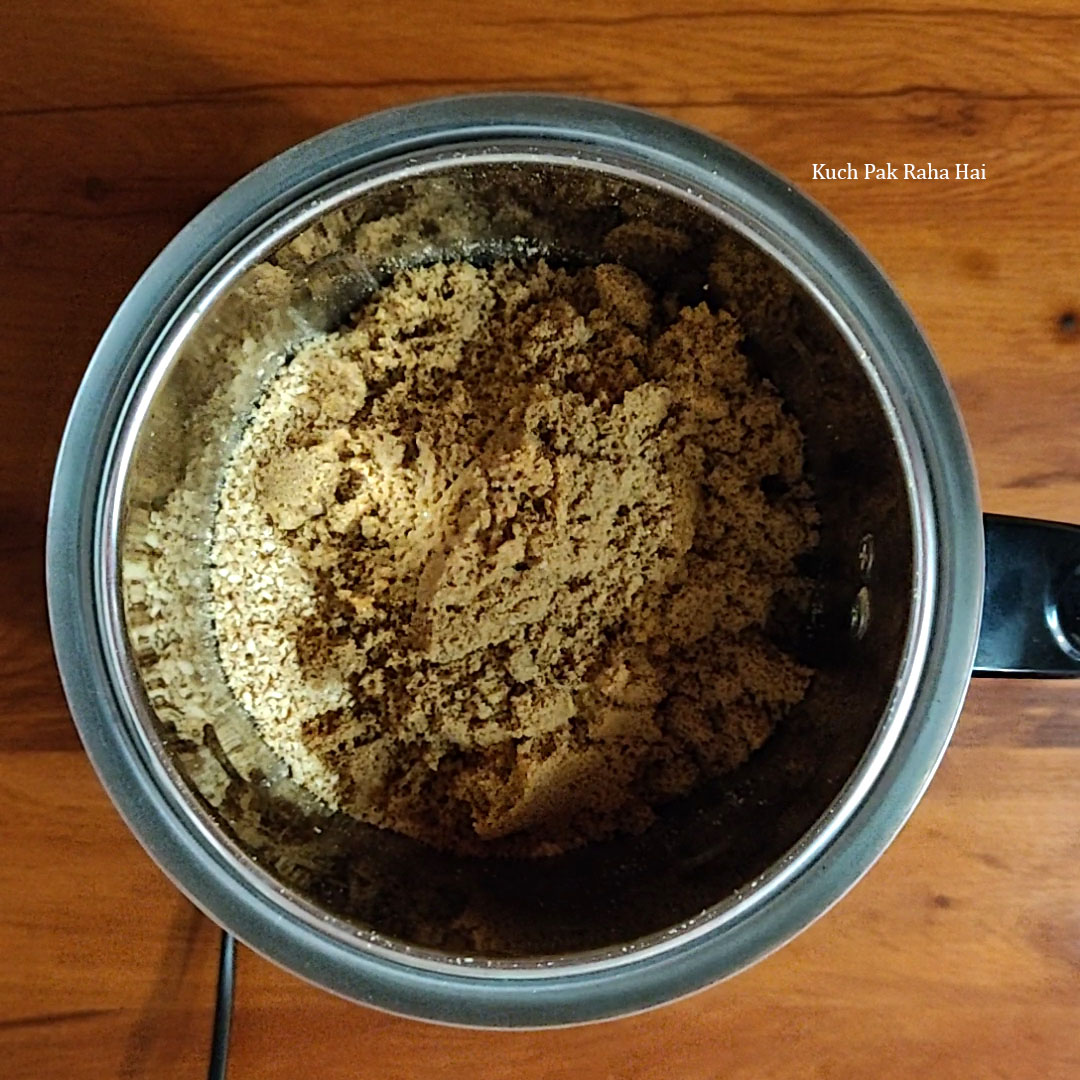 Grinding Til Ladoo Mixture