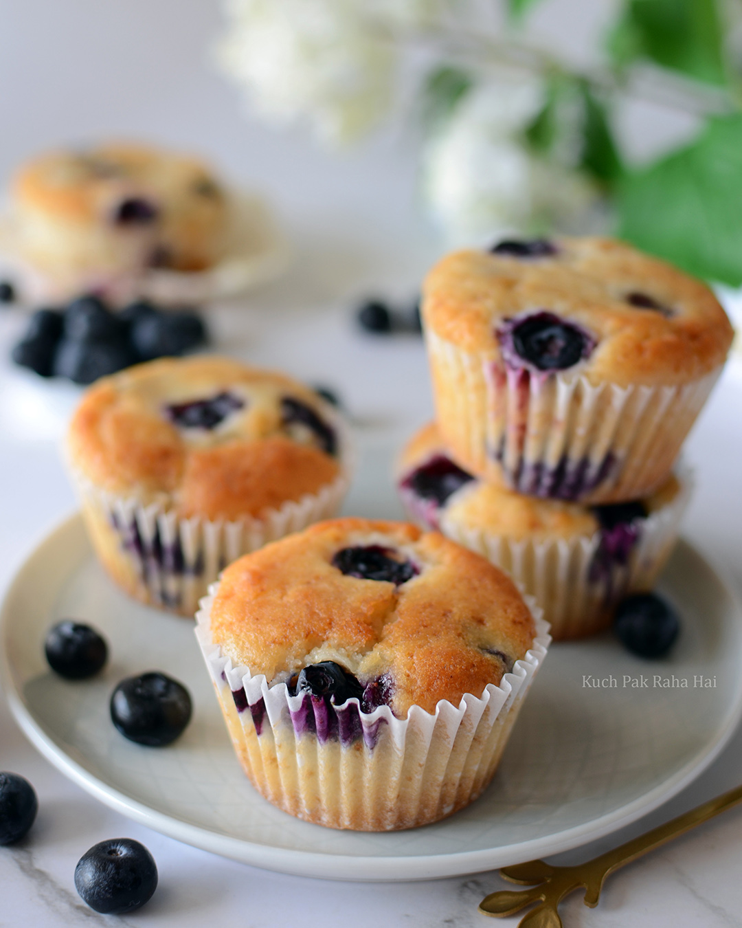 Egg free blueberry muffins tea time fruit muffins