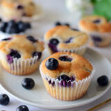 Eggless Lemon Blueberry Muffins