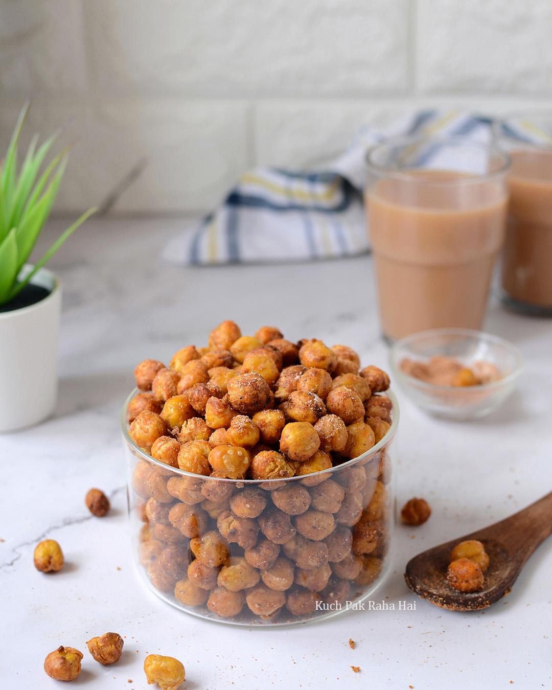 Crispy Chickpeas in Air Fryer Vegan Vegetarian Snack Recipe