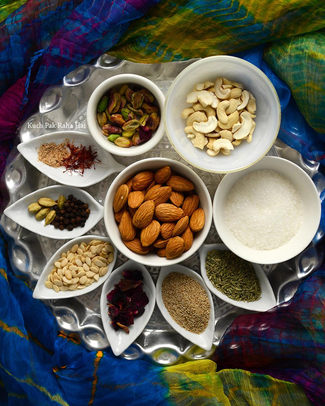 Thandai Powder Ingredients