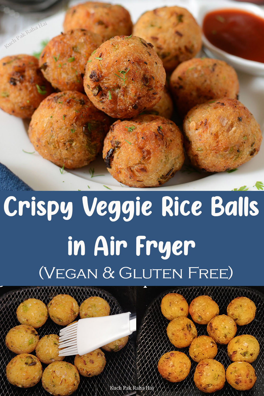Crispy Vegetable Rice Balls Recipe In Air Fryer Vegan Gluten Free Snack