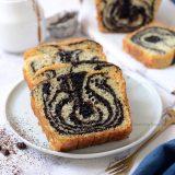 Eggless Chocolate Vanilla Marble Cake Recipe