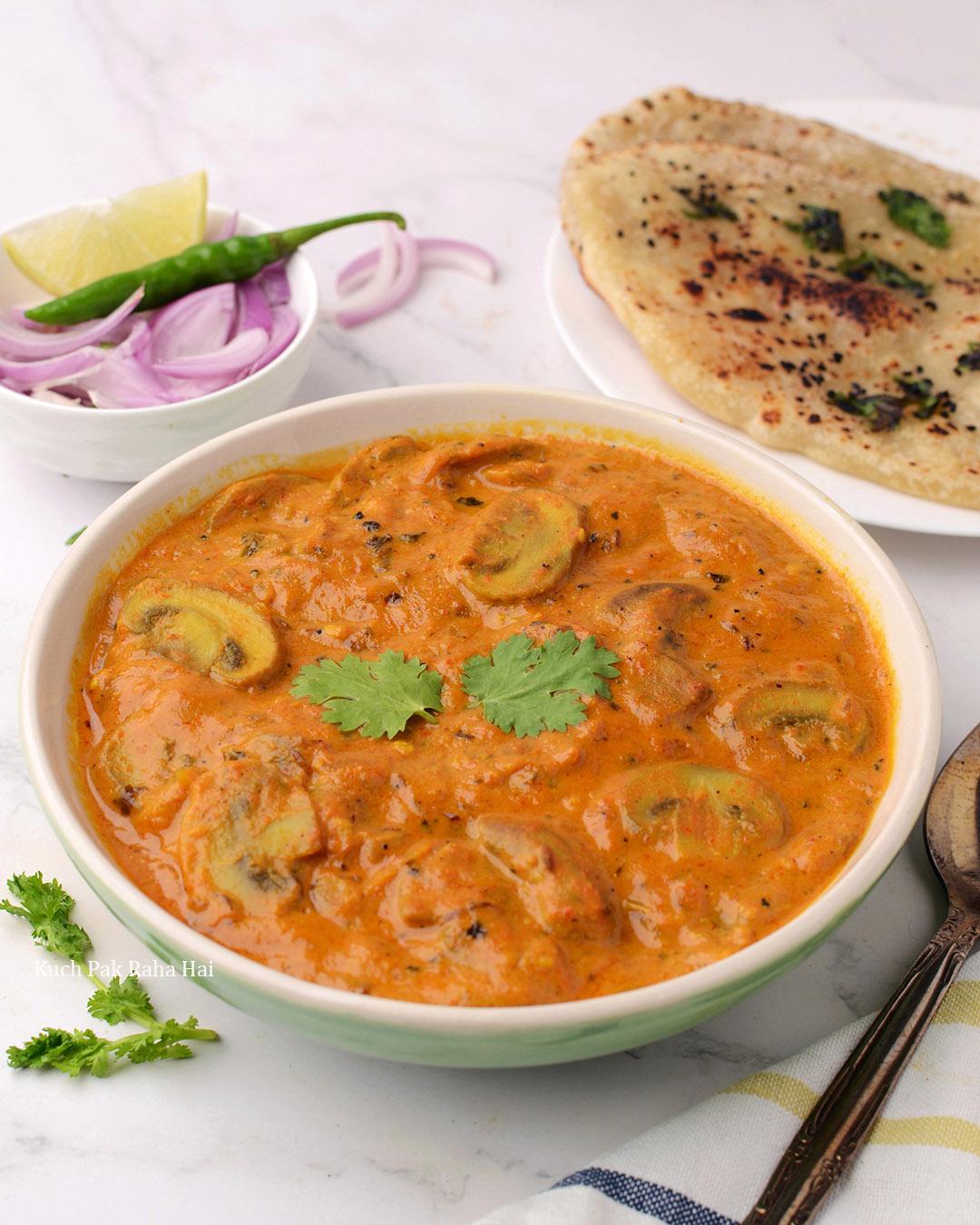 Mushroom Masala Curry Recipe